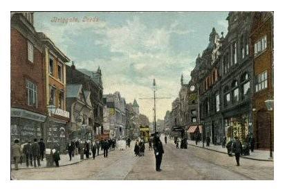Briggate Leeds Circa 1900 - Courtesy of Ann Halford