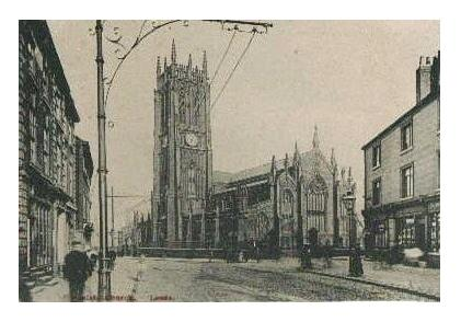 Early Leeds Parish Church - Courtesy of Ann Halford